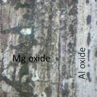aluminium oxide and magnesium oxide surface
